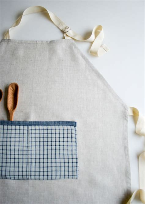 sewing bee apron simple linen apron the purl bee a good first real