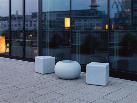 table seat granite cube anti park barrier table seat multifunctional
