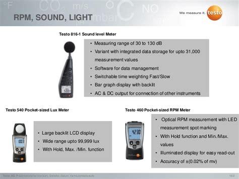speed of sound testo testo energy kit