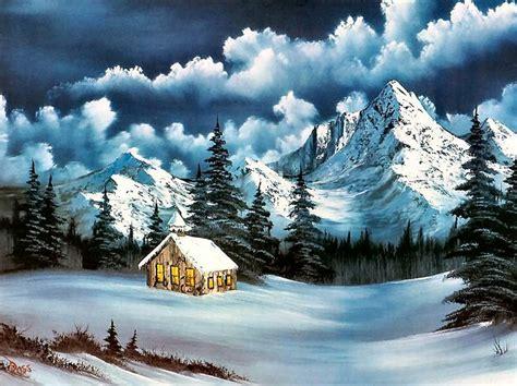 bob ross of painting years snow bob ross charming winter