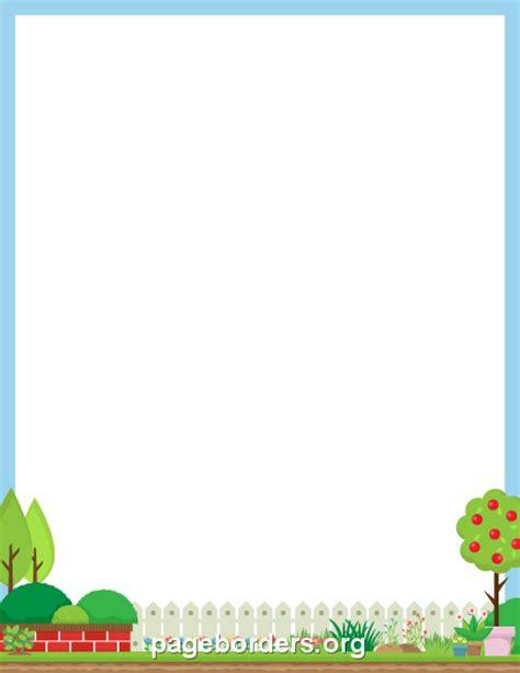plant border clip art page border  vector graphics