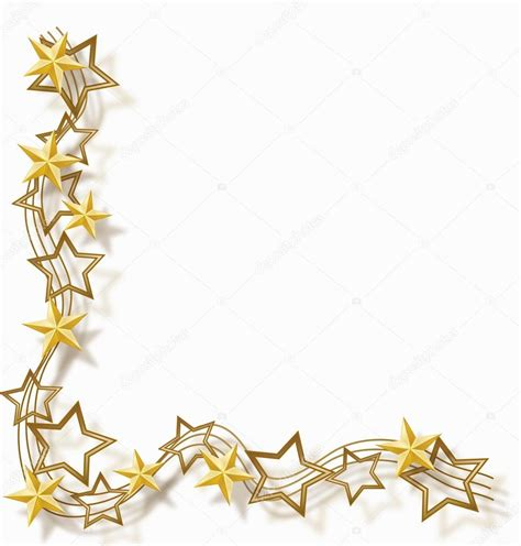 cornici natalizie da stare gold border clip 22