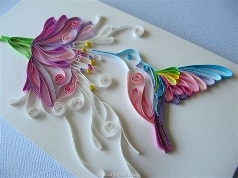 quilling tutorial bird unknown artist quilling about flowers and animals