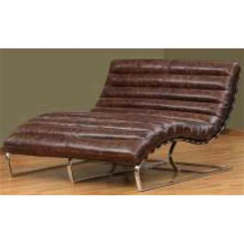 vintage brown leather pillow unique curved double chaise lounge chair ebay