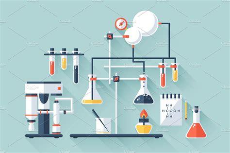 design lab organic chemistry chemistry laboratory illustrations creative market