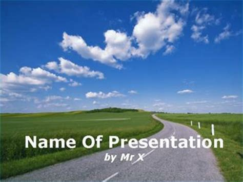 powerpoint templates free download roads a road in the countryside powerpoint template