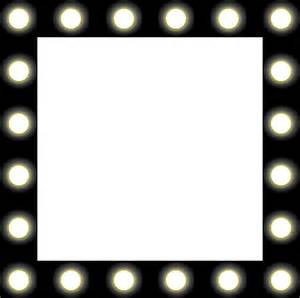 lights frame free vector graphic mirror lights backstage black