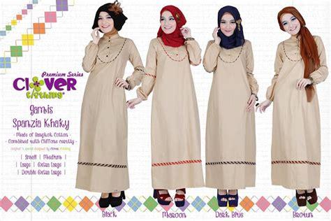 Gamis Onida Green Army muslimina fashion gamis clover clothing