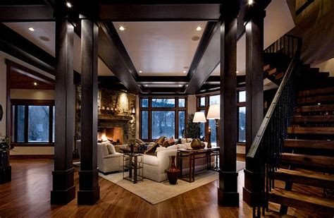 dark wood living room 3 tricks to make your home cozier
