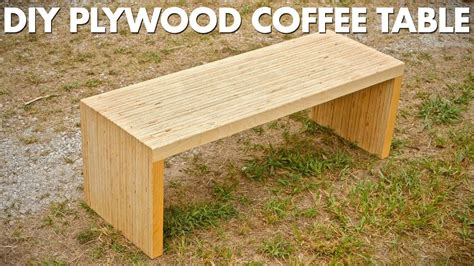 Plywood Coffee Table Diy Diy Plywood Coffee Table Made With One Sheet Of Plywood Woodworking Diy Craft Ideas