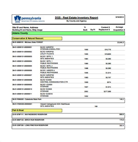 inventory report sle report inventory template 28 images 12 inventory