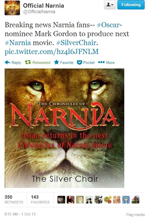 narnia film next the silver chair announced as next narnia movie c s