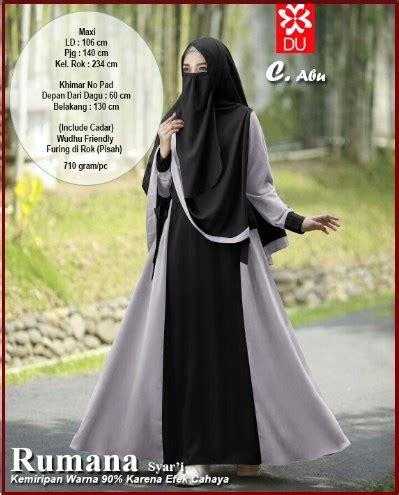 Baju Gamis Ready Sofia Syari Abu Terbaru gamis syar i bahan katun rayon bercadar wa 0821 1223 5665