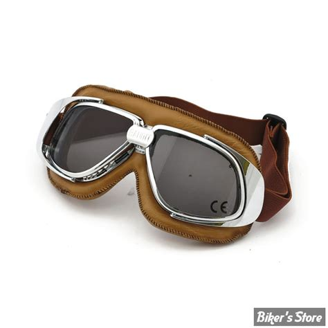 Klassische Motorradbrille by Lunettes Moto Bandit Verres Fumes Couleur Marron
