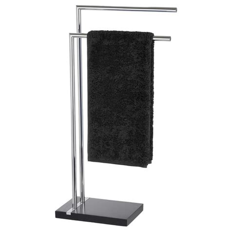Bathroom Towel Stands by Wenko Noble Towel Stand Black 20461100 At