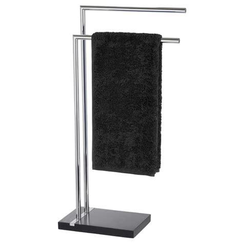 Bathroom Towel Stands by Wenko Noble Towel Stand Black 20461100 At Plumbing Uk
