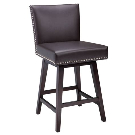 leather counter stools sunpan 5west vintage bonded leather swivel counter stool