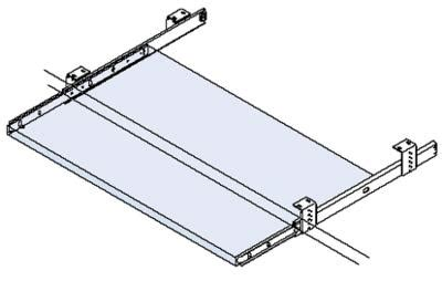 keyboard shelf runner 350mm architectural ironmongery