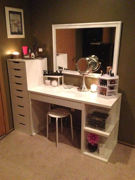 black makeup desk with drawers ikea makeup makeup with drawers vanity desk