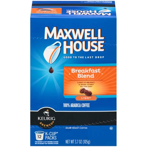 maxwell house k cups maxwell house breakfast blend coffee keurig k cup 12 pk keurig k cups home
