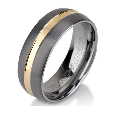 sale unique polished tungsten ring mens wedding by