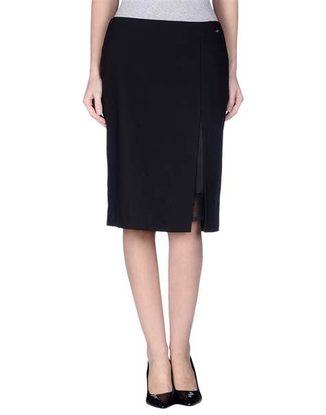 lafty lie knee length skirt in black lyst