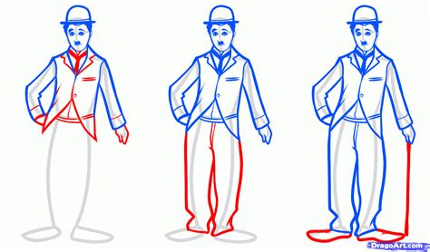 how ro draw how to draw chaplin step by step