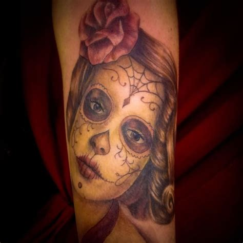 day of the dead tattoos with roses day of the dead images designs