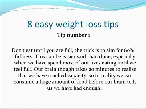 8 weight loss tips 8 easy weight loss tips