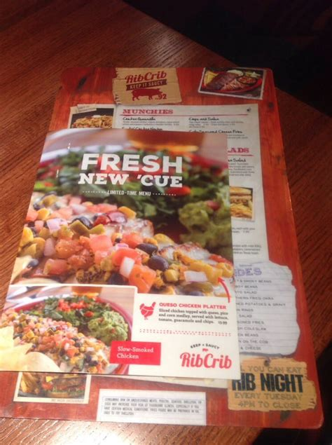 Rib Crib To Go Menu by Menu From Rib Crib Yelp