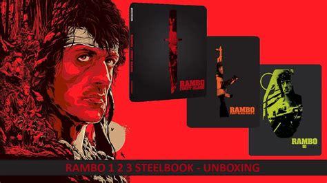 download film rambo 4 blu ray rambo 1 2 3 steelbook blu ray dvd unboxing youtube