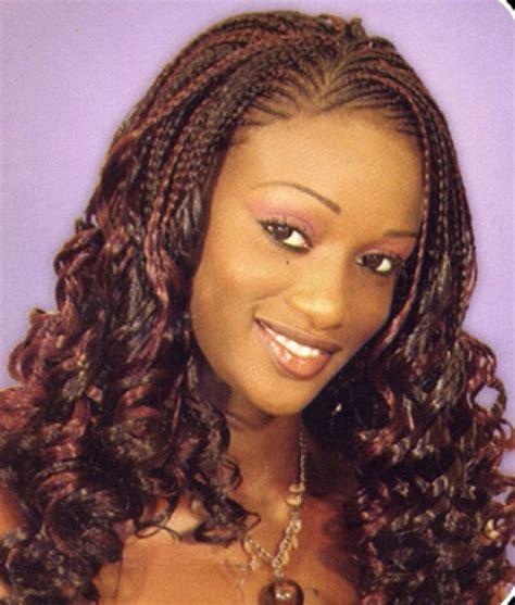 individual braids styles half braided half braid hairstyles