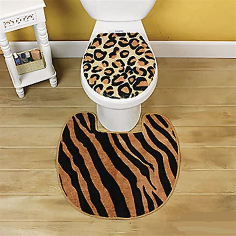 3 pc animal print animal print bathroom accessory set