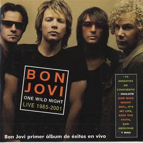 Cd Bon Jovi One Live 1985 2001 Cetakan Pertama bon jovi one live 1985 2001 mexican promo cd single cd5 5 quot 199416