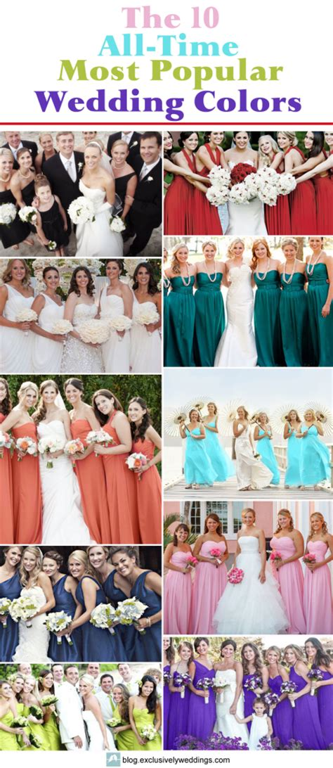 top 10 wedding blogs the 10 all time most popular wedding colors exclusively