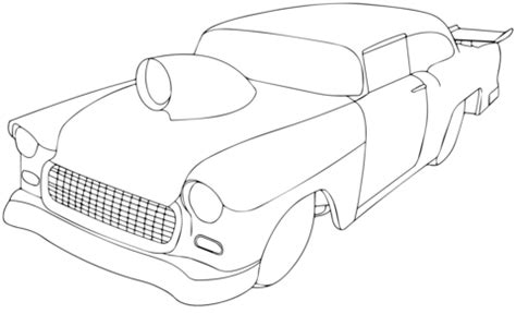 1955 chevy pro sportsman coloring page free printable