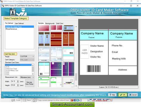 visitors id cards maker for mac screenshots to know how to visitors gate pass id cards maker software screenshots to