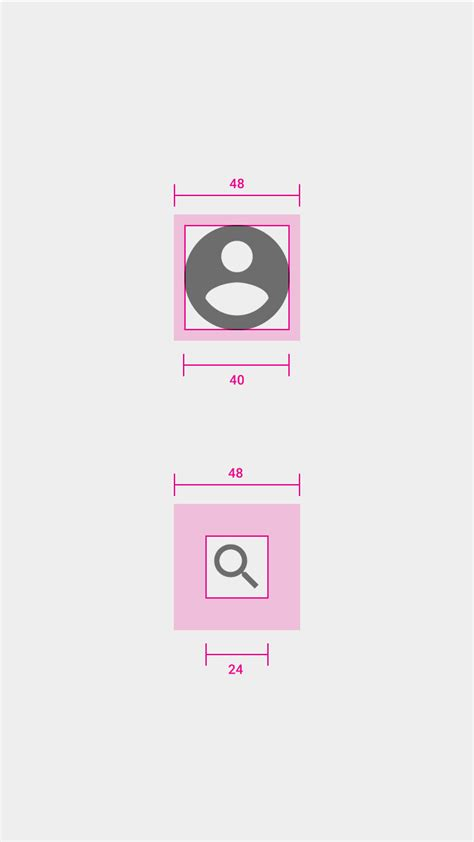 design navigation icon size android material design icon size in navigation drawer