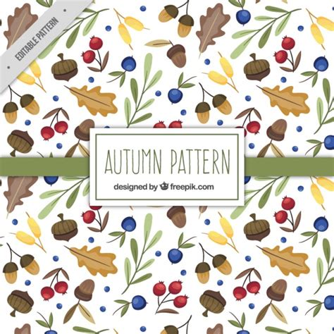 natural pattern ai autumn natural elements pattern vector free download