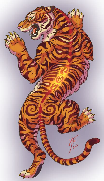 thai tiger tattoo designs thai tiger by inkydragon on deviantart