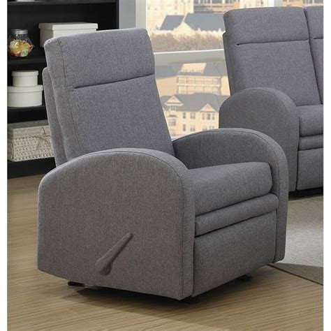 gray rocker recliner acme azura linen rocker recliner in gray 51037