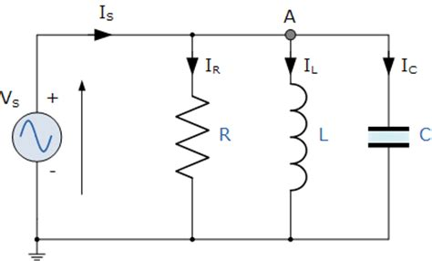 current through inductor in parallel rlc circuit parallel rlc circuit and rlc parallel circuit analysis