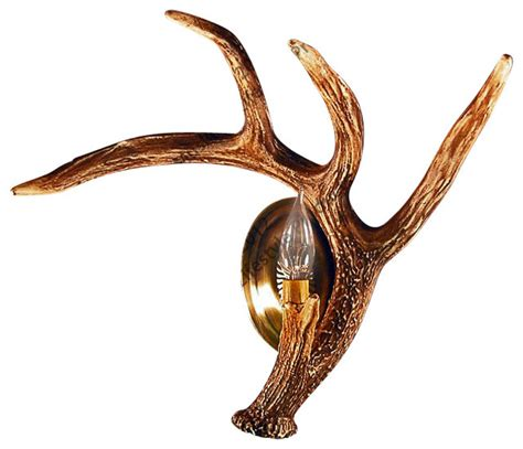 Antler Sconces Faux rustic faux whitetail antler wall sconce wall lighting by muskoka lifestyle products