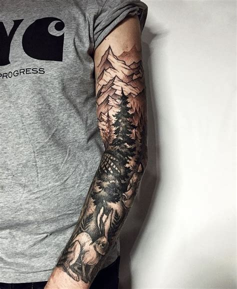 nature tattoos for men best 20 nature sleeve ideas on nature