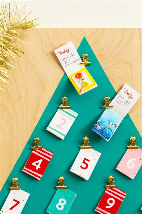 make your own advent calendar with photos customizable advent calendar hearts