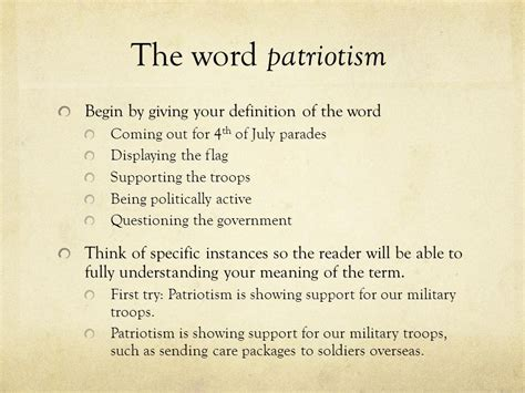 Patriotism Definition Essay by Definition Essay Patriotism