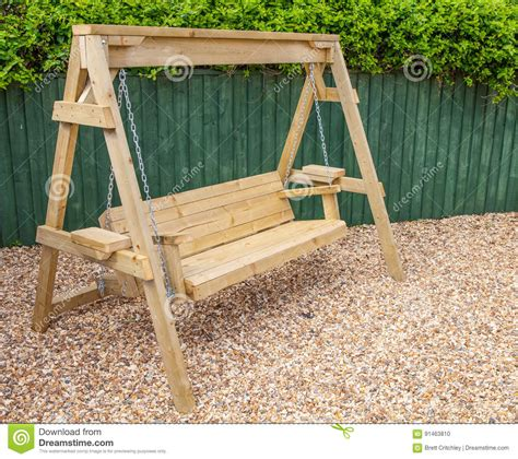 wooden swing bench garden swing bench wood home outdoor decoration