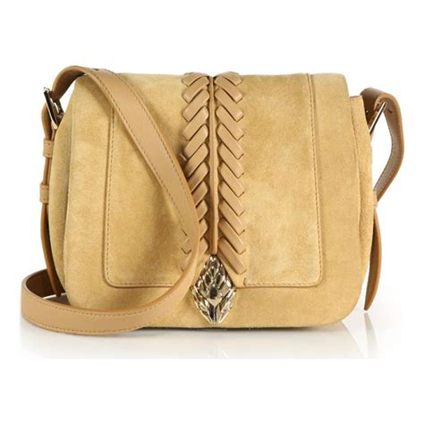 Roberto Cavalli Whipstitched Leather Purse by Roberto Cavalli Whipstitched Suede Leather Crossbody Bag