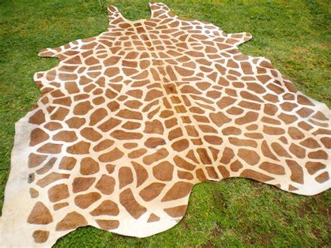 Giraffe Area Rug Giraffe Print Printed Cowhide Skin Rug Cow Hide Giraffe Dc3233