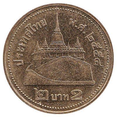 thai baht coin gold coloured exchange   cash